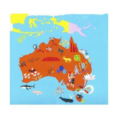 Illustrated Map of Australia