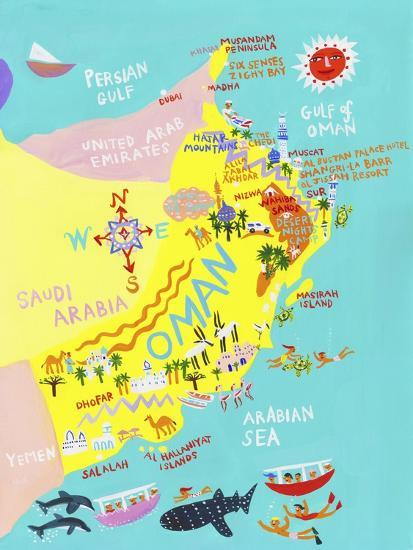 Illustrated Map of Oman
