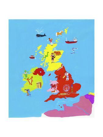 Illustrated Map of British Isles