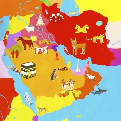Illustrated Map of the Middle East