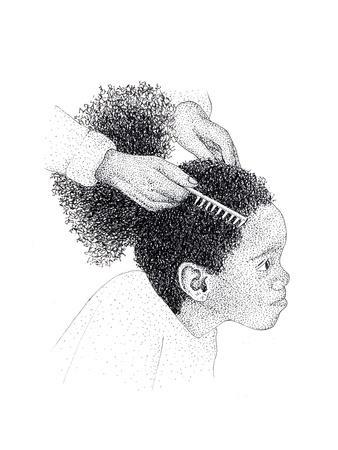 Girl in Hair Salon