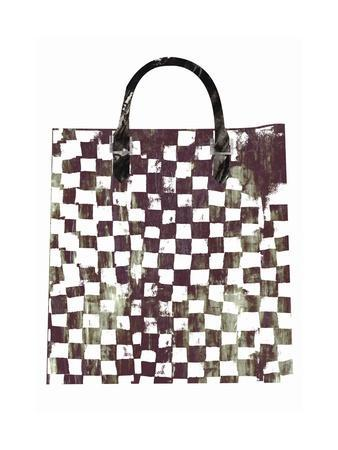 Purse with Checked Pattern