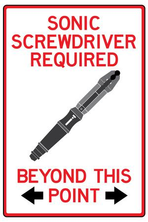 Sonic Screwdriver Required Past This Point