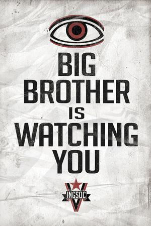 Big Brother is Watching You 1984 INGSOC Political Poster