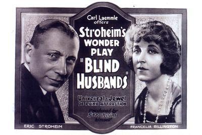 Blind Husbands Movie Sam De Grasse Francelia Billington Poster Print