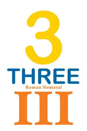 Number 3 Sign with Roman Numeral Banner Poster