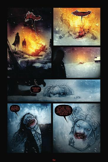 30 Days Of Night Red Snow Comic Page With Panels Poster By Ben