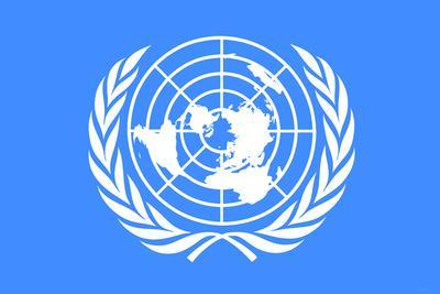 United Nations Flag Poster Print