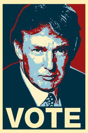 Donald Trump Vote Art Poster Print