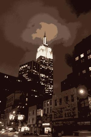New York City Empire State Building Artistic Art Print Poster