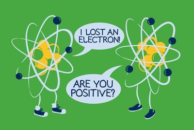 Atoms Lost an Electron Snorg Tees Poster