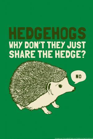 Hedgehogs Snorg Tees Poster