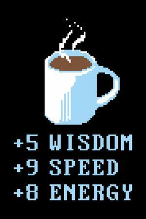 Coffee Points Snorg Tees Poster