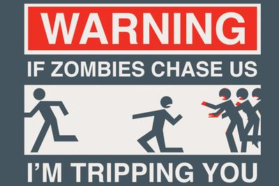 Zombie Chase Snorg Tees Poster