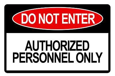 Do Not Enter Sign Art Print Poster