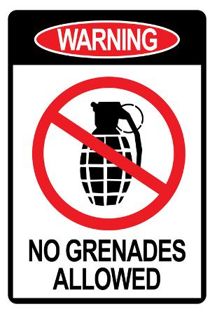 Jersey Shore No Grenades Allowed Sign TV Poster Print