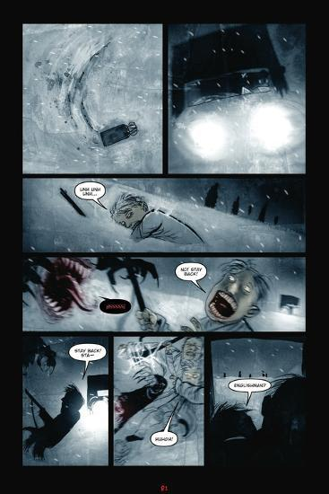 30 Days Of Night Red Snow Comic Page With Panels Print By Ben