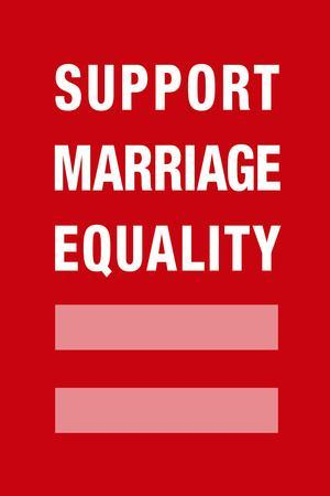 Support Marriage Equality Poster