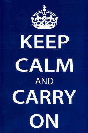 Keep Calm and Carry On, Dark Blue