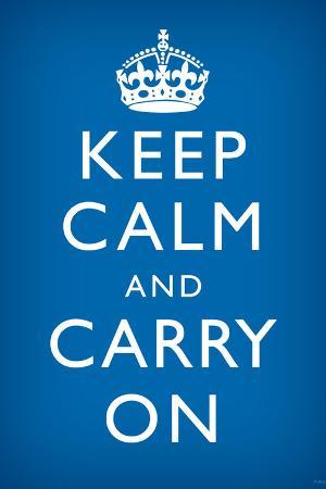 Keep Calm and Carry On, Medium Blue
