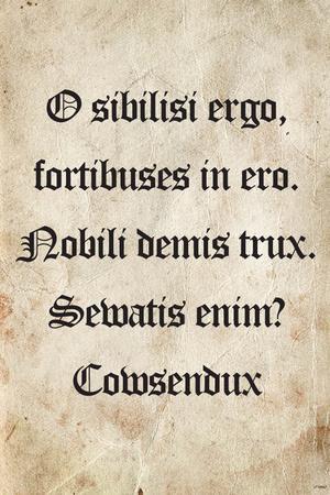 Latin Joke (Cowsendux) Art Poster Print