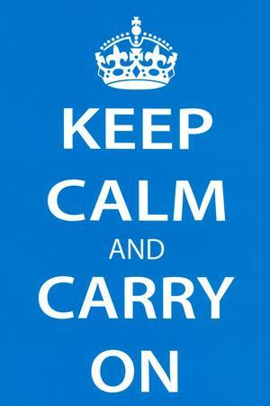 Keep Calm and Carry On, Light Blue
