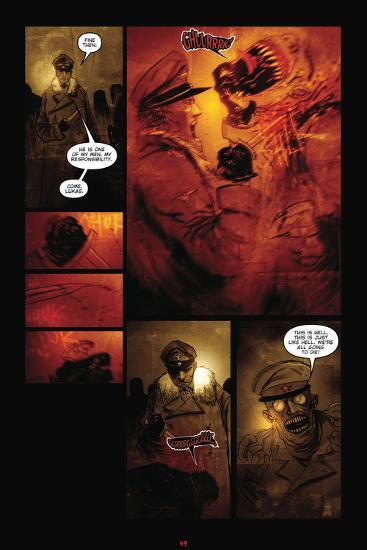 30 Days Of Night Red Snow Comic Page With Panels Posters By Ben