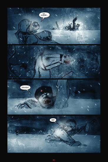 30 Days Of Night Red Snow Comic Page With Panels Prints By Ben