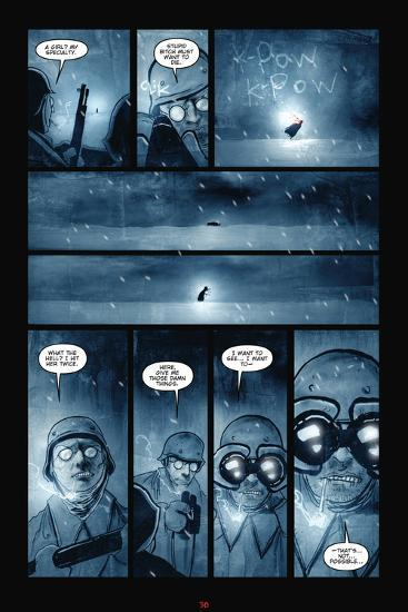 30 Days Of Night Red Snow Comic Page With Panels Photo By Ben