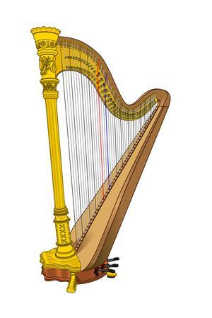 Orchestral Harp, Stringed Instrument, Musical Instrument
