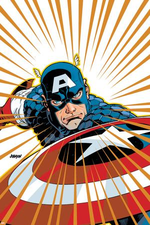 Captain America V4, No.27 Cover: Captain America Fighting