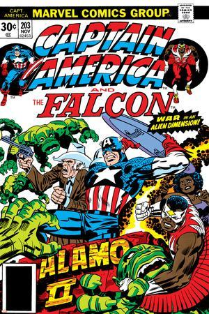 Captain America And The Falcon No.203 Cover: Captain America, Falcon, Marvel Comics and Thor