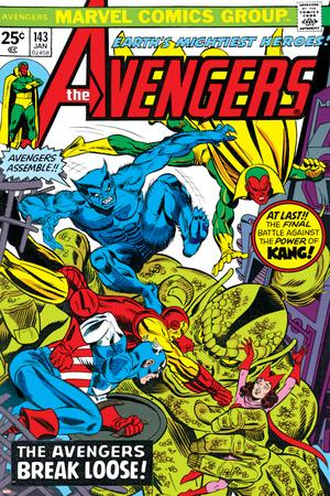 Avengers No.143 Cover: Beast, Captain America, Iron Man, Vision and Avengers