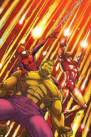 Marvel Adventures Super Heroes No.2 Cover: Hulk, Spider-Man and Iron Man