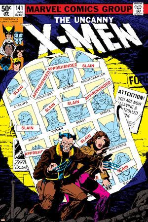 Uncanny X-Men No.141 Cover: Wolverine, Pryde and Kitty Charging