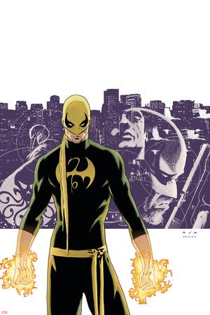 The Immortal Iron Fist No.6 Cover: Iron Fist, Randall and Orson Charging