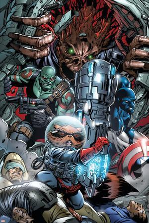 War of Kings No.3 Group: Rocket Raccoon, Drax, Major Victory and Groot