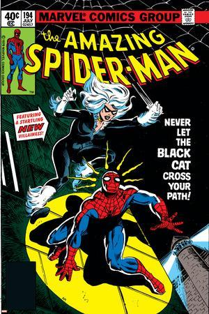 Amazing Spider-Man No.194 Cover: Spider-Man and Black Cat