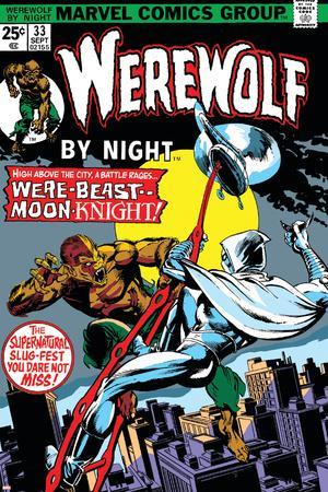 Werewolf By Night No.33 Cover: Moon Knight and Werewolf By Night