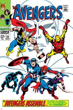 Giant-Size Avengers No.1 Cover: Thor, Iron Man, Captain America and Black Panther
