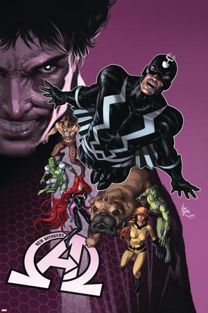 New Avengers #8 Cover: Medusa, Black Bolt, Lockjaw, Gorgon, Triton, Crystal, Karnak, Maximus