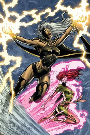 Uncanny X-Men: First Class No.6 Cover: Storm and Phoenix