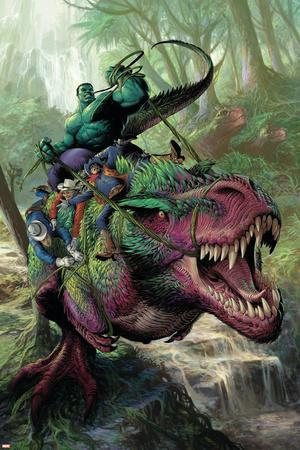 Indestructible Hulk #20 Cover Featuring Hulk, Two-Gun Kid, Kid Colt, Rawhide Kid