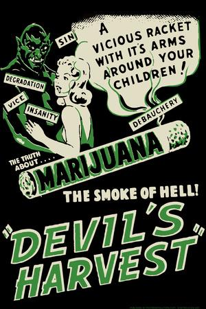 Devil's Harvest Movie by Retro-A-Go-Go Poster