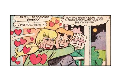 Archie Comics Retro: Archie and Betty Comic Panel; Gift (Aged)