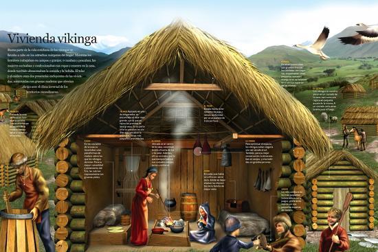 Infografía Sobre La Vida Cotidiana De Los Vikingos En Un
