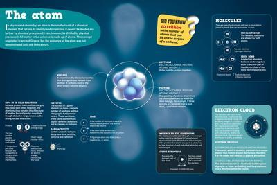 Infographic on the Atom and its Components