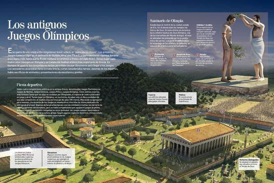 Infografia De Los Juegos Olimpicos En La Antigua Grecia Organizacion Y Pruebas Deportivas