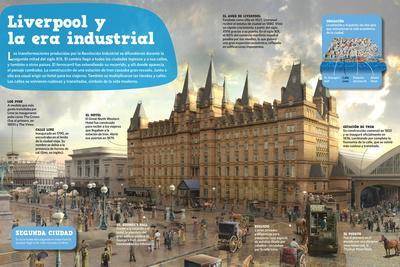 Infografía Sobre La Transformación Que Vivió Liverpool Con La Revolución Industrial
