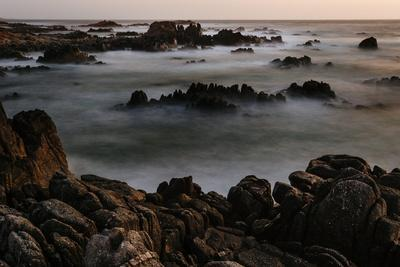 A Long Exposure Of Spanish Bay On The Pacific Coast Along 17 Mile Drive In Monterey